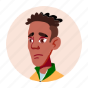 african, avatar, black, boy, face, people, university icon