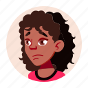 african, avatar, black, girl, people, teen, university icon