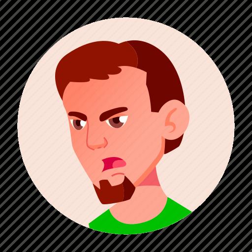 avatar, boy, emotion, expression, face, teen icon