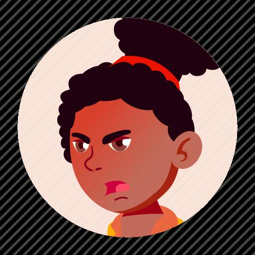 african, avatar, black, girl, teen, university icon