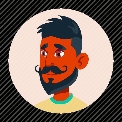 arab, avatar, boy, emotion, expression, teen, university icon