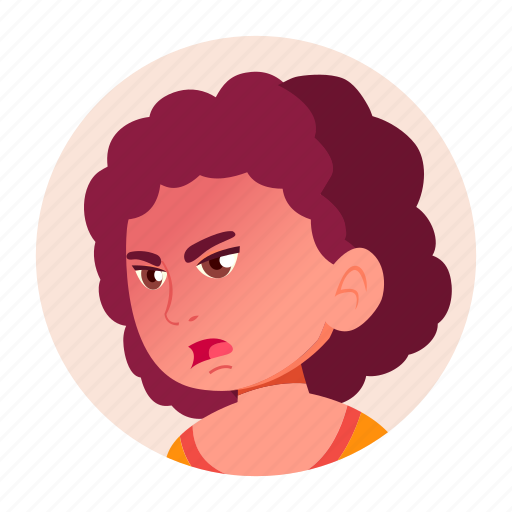 Avatar, emotion, expression, face, girl, teen icon - Download on Iconfinder