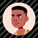african, avatar, black, boy, face, teen, university icon