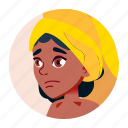 african, avatar, black, girl, teen, university icon