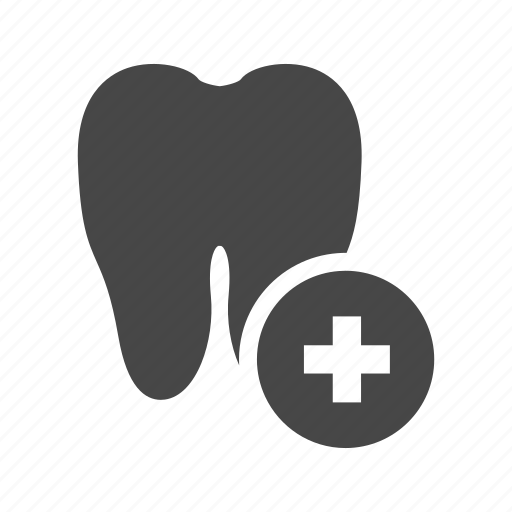 anatomy, plus, teeth icon