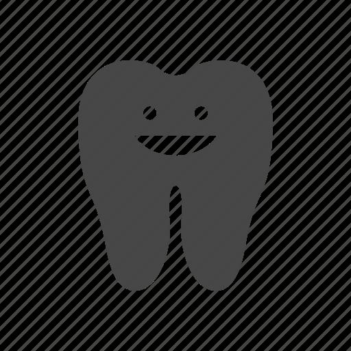 anatomy, happy, tooth icon