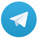 blue, logo, logotype, round, telegram icon