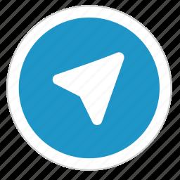 round, sign, telegram, ui icon