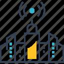 city, fi, signal, smart, television, wi icon
