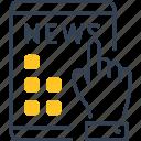 hand, ipad, news, television icon