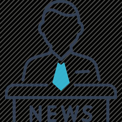 men, news, television icon