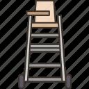 judge, chair, umpire, referee, seat
