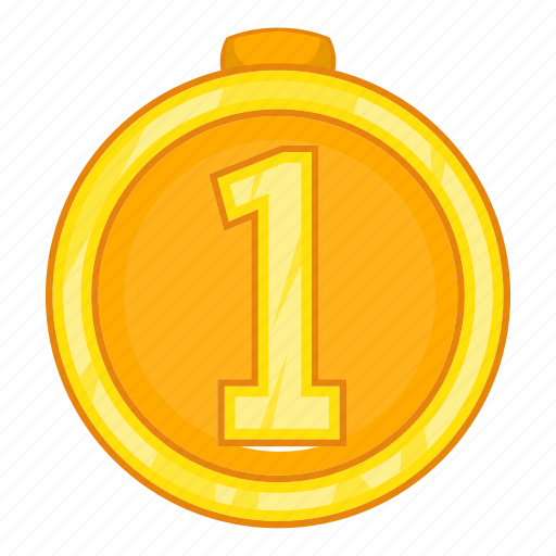 Award, cartoon, first, gold, medal, place, sign icon - Download on Iconfinder