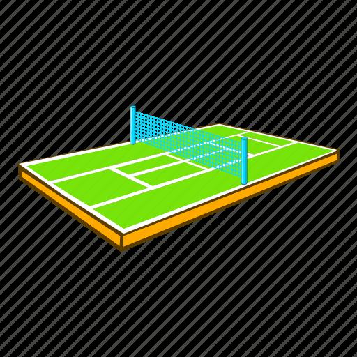 Cartoon, court, coverage, game, grass, sign, tennis icon - Download on Iconfinder