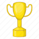 cartoon, cup, gold, reward, sign, success, winner icon