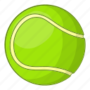 ball, cartoon, equipment, sign, sport, tennis, white icon