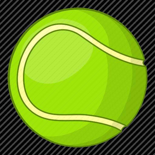 Ball, cartoon, equipment, sign, sport, tennis, white icon - Download on Iconfinder