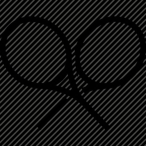 logo, racket, racquet, tennis icon