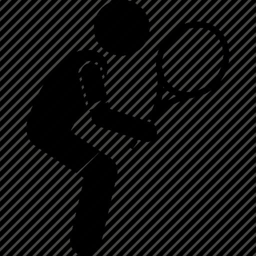 player, ready, tennis icon