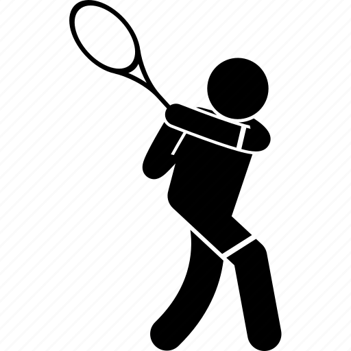 backhand, player, stroke, tennis, two handed icon