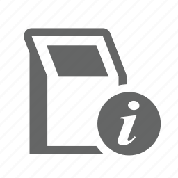 computer, help, information, kiosk, service, support, terminal icon