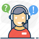 consultant, customer, customer services, service, helpline, csr, customer support icon