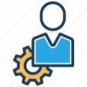 manage users, options, preferences, profile, settings, tester, user icon