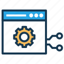 browser, node, remote testing, seo, technology, website icon