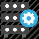 data storage, database, manage data, manage options, server, settings icon