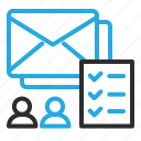 checklist, mail, marketing, newsletter, users icon