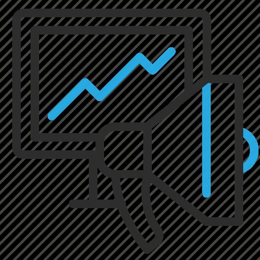 advertising, desktop, grow, marketing, monitor, pc, seo icon