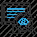 analyze, desktop, eye, find, monitor, pc, scan, view icon