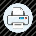 document, home, paper, print, printer, printing, sheet, text icon