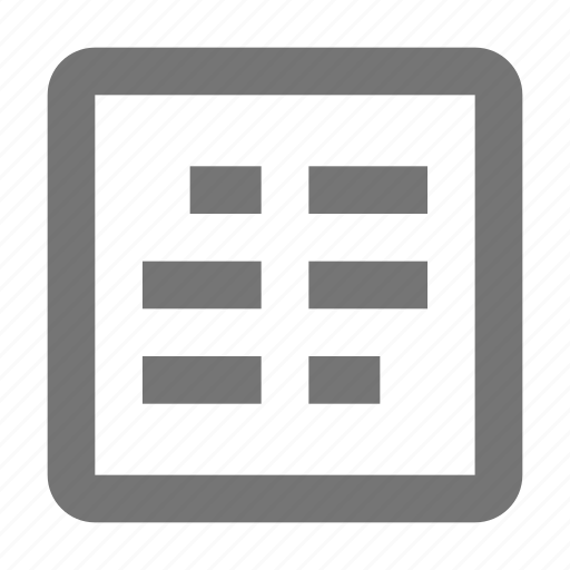 columns, controls, document, grid, layout, settings, tools icon