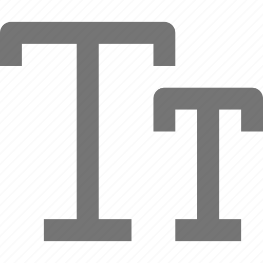 caps, font icon