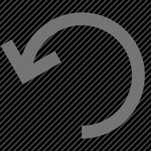 arrow, undo icon