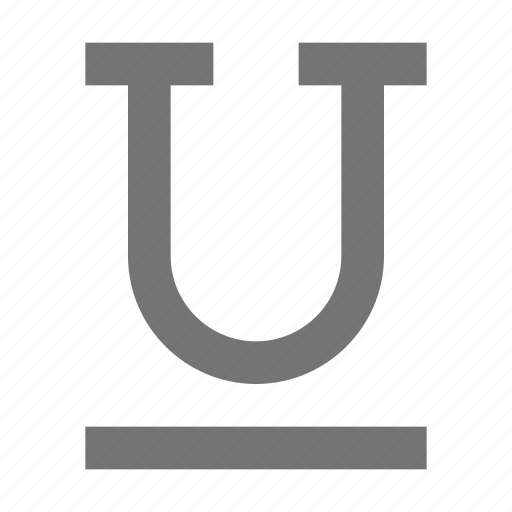 controls, document, settings, style, tools, type, underline icon