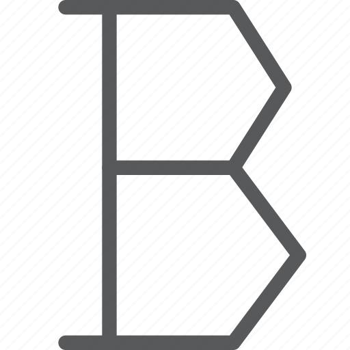 bold, font, letter, parameters, text, thick, typography icon