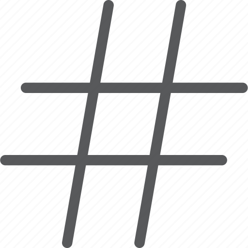 font, hash, parameters, tag, text, trend, typography icon