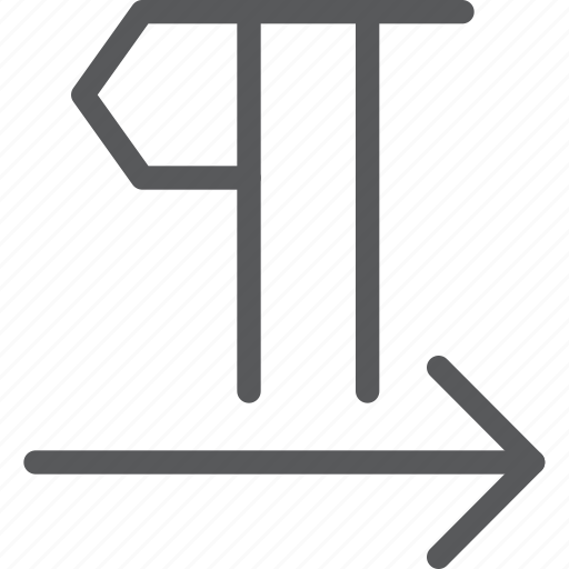 arrow, font, format, left to right, paragraph, parameters, text, typography icon