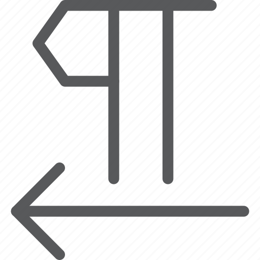 arrow, font, format, paragraph, parameters, right to left, text, typography icon