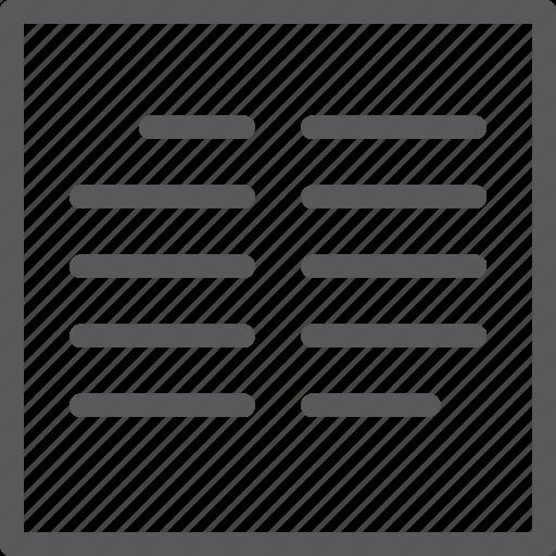 columns, design, font, format, paragraph, parameters, text, two icon