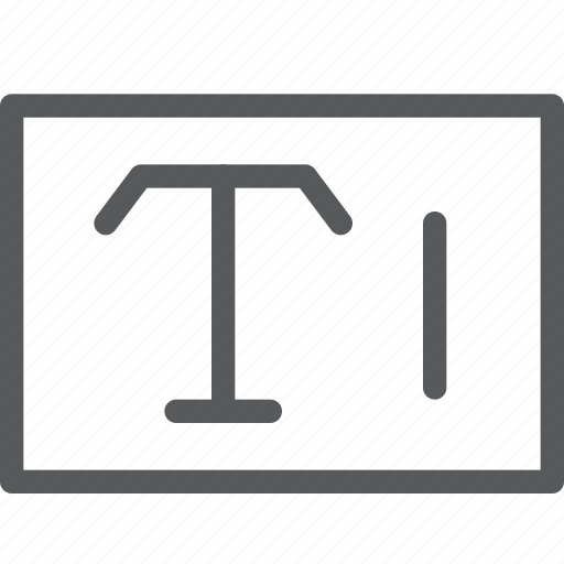 box, font, inbetween, input, parameters, text, typography icon