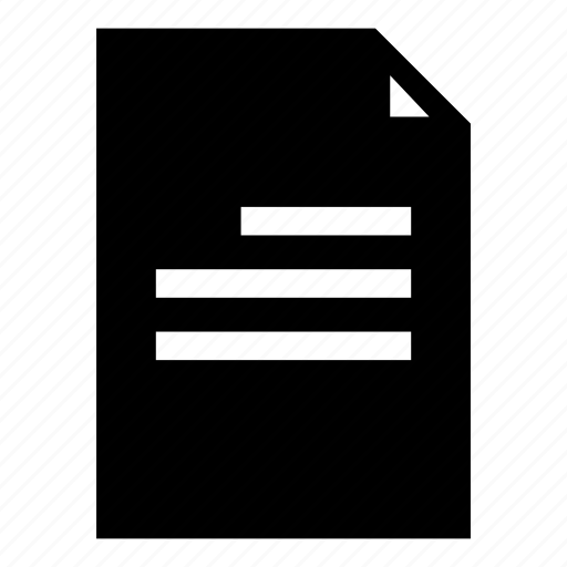 alignment, paper, right align, template, text icon