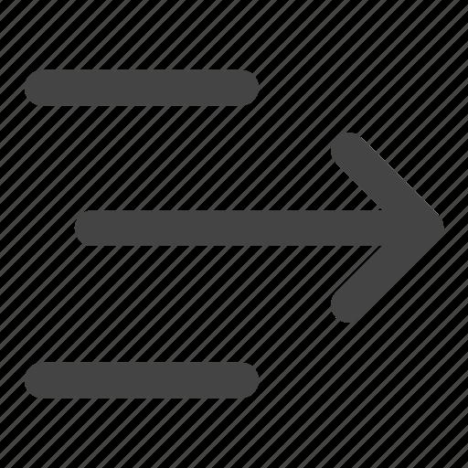 align, align right, alignment, arrows, move, right, text align icon