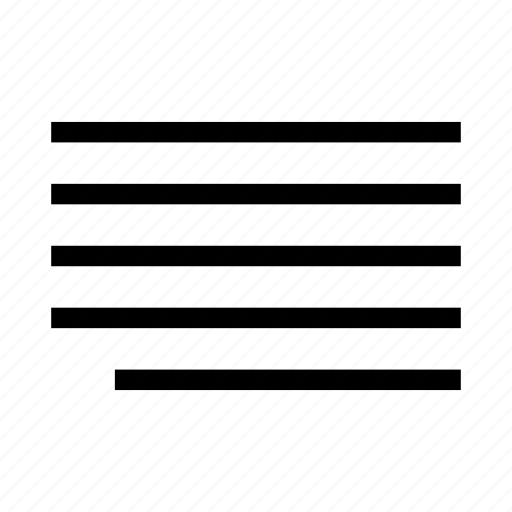 edit, editing, format, justify, last line, right aligned, text icon