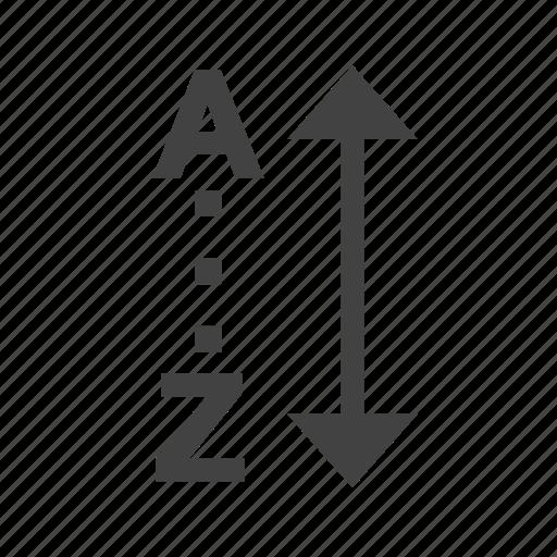 alphabet, alphabetically, list, note, sort, text icon
