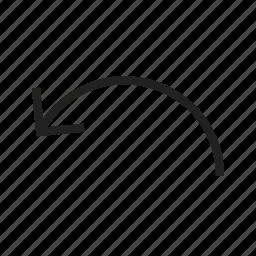 arrow, back, direction, previous, reset, undo icon