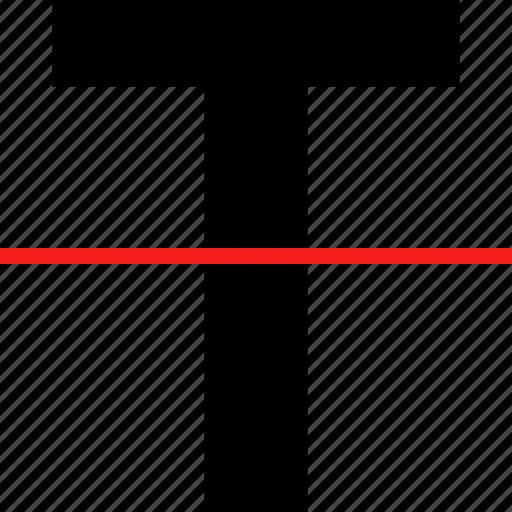bold, strike, text icon