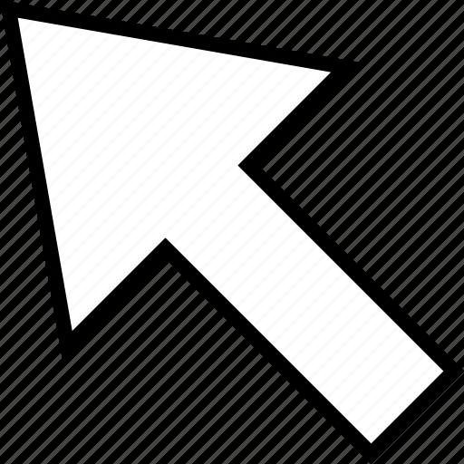 arrow, click, point icon